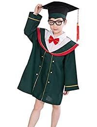 FENICAL Kids Graduation Cap and Gown for Children of 150cm (Green)
