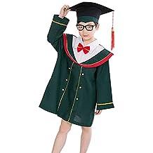 TENDYCOCO Graduación Bata Gorra Conjuntos de Borla Uniformes Escolares Graduado Licenciado para niños ...