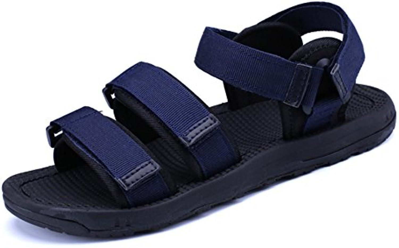 Wangcui Sandalen Sommer Outdoor Männer Rutschfeste Sandalen Leichte Sandalen (Farbe : Blau  Größe : 40 2/3 EU)