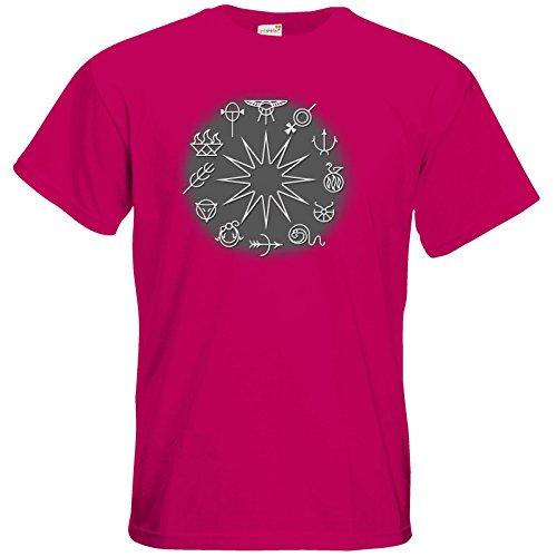 getshirts - Das Schwarze Auge - T-Shirt - Götter - Symbole - Zwölfgötterkreis Sorbet