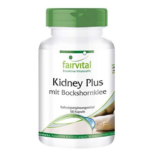 Kidney Plus mit Bockshornklee - HOCHDOSIERT - VEGAN - 180 Kapseln - mit Chrom und grünem Kaffee -