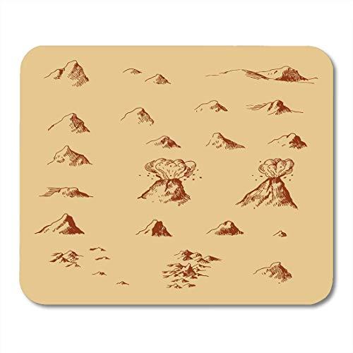 Mauspads Weltphantasie-alte Karten-Gebirgslicht-Weinlese-Piraten-Antiken-Mausunterlage für Notizbücher, Tischrechnermatten Bürozubehöre -