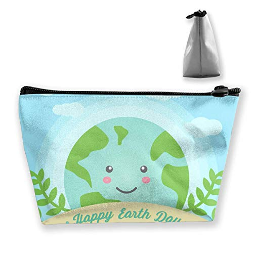 Earth Day Women Makeup Bags Multifunktions-Kulturbeutel Organizer Travel Wash Lagerung (Trapez)