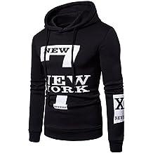 Sweatshirt à capuche pour hommes, Lenfesh Sweat à capuche imprimé à manches longues 7-New York Outwear