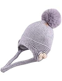 7037ac37b6f4e Mitlfuny Niños Niñas Sombreros de Punto Gruesa para Bebé Invierno Caliente  Gorro con Orejeras de Escorpion