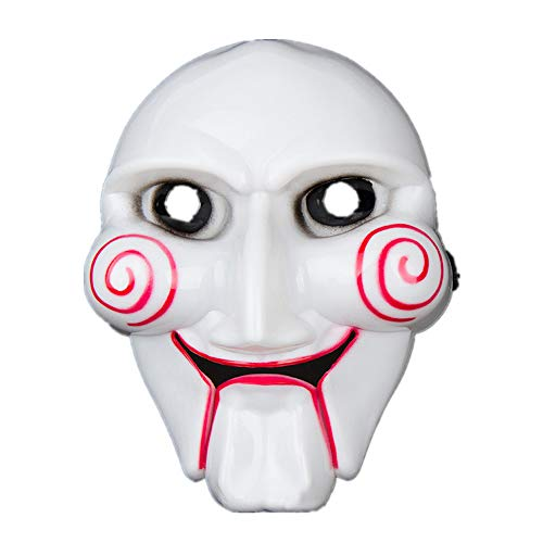 Kostüm Crimson Damen - AZZRA Chainsaw Crimson Killer Mask Halloween Masken Festival Party Cosplay LED Leuchten Maske Karneval Maske Halloween Accessoires Grimasse Maske Batterie Angetrieben
