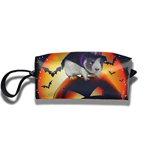 Guinea Pig Halloween Print Fashion Cosmetic Pouch Bag Interesting Jewelry Pouch Travel Makeup Bag Pouch with Zipper (Pig Halloween Guinea)