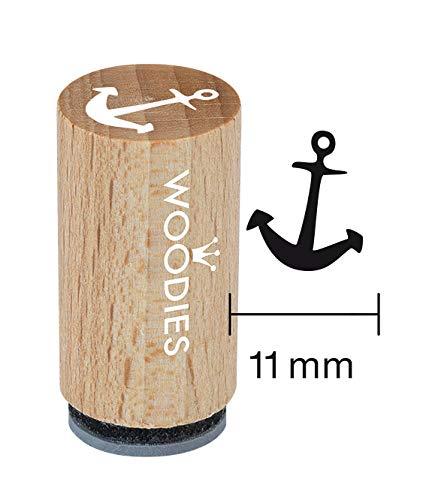 Woodies Mini Stempel Anker, Holz, 1,5x 1,5x 3cm -