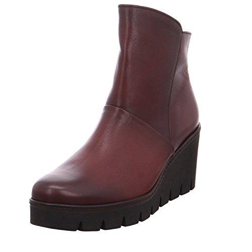 Gabor Damenschuhe 73.784.25 Damen Stiefeletten, Wedge Boots, Stiefel, mit verbreitener Auftrittsfläche, mit Reißverschluss, mit Keilabsatz Rot (Merlot(Effekt) cogn), EU 5