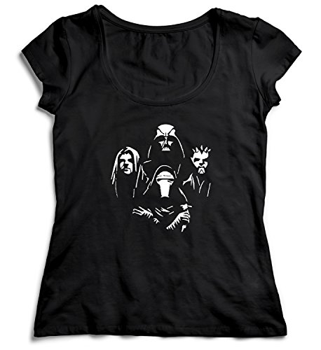 Star Rhapsody Darth Vader T-Shirt Camiseta Shirt para la Mujer Camisa Negra Women's Women Tshirt 100% Algodón Regalo De Cumpleaños Navidad Mujer