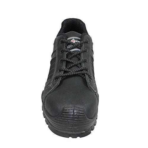 Aimont rixor chaussures de sécurité norme s3 sRC chaussures berufsschuhe businessschuhe plat noir Noir - Noir
