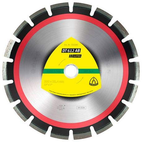 KLINGSPOR 330083 DT 612 AB Diamanttrennscheiben 450 x 3,7 x 25,4 mm 25 Segmente 40 x 3,7 x 10 mm Weitverzahnt (Inhalt: 1)