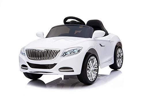 Toyas Kinder Elektro Auto Sportwagen Cabrio Kinderfahrzeug Akku RC LED S2188 Weiß