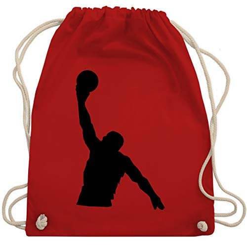 Basketball - Basketballer Wurf - Unisize - Rot - WM110 - Turnbeutel & Gym Bag