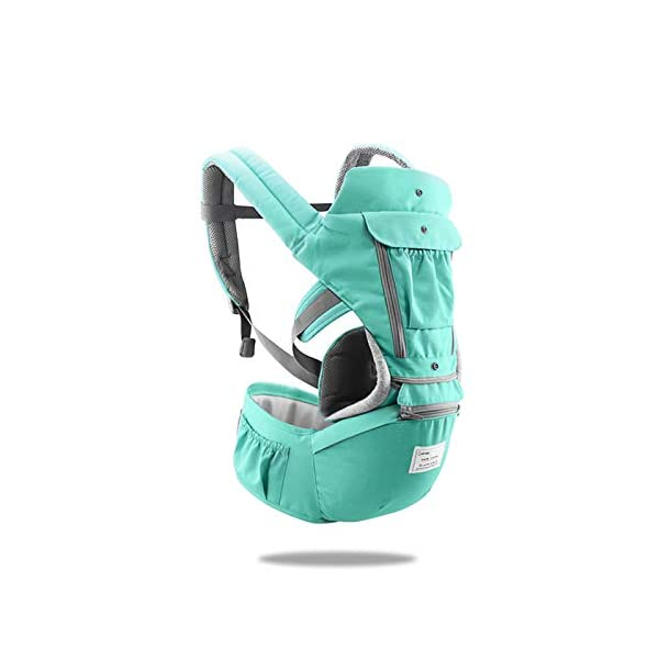 SONARIN 3 in 1 Multifunction Hipseat Baby Carrier,Front and Back,100% Cotton,Ergonomic,Easy Mom,Adapted to Your Child's Growing, 100% Guarantee and Free DELIVERY,Ideal Gift(Green) SONARIN Applicable age and Weight:0-36 months of baby, the maximum load:36KG, and adjustable the waist size can be up to 47.2 inches (about 120 cm). Material:designers carefully selected soft and delicate Cotton fabric. Resistant to wash, do not fade, ensure the comfort and breathability, Inner pad: EPP Foam,high strength,safe and no deformation,to the baby comfortable and safe experience. Description:Scientific 35°, the baby naturally fits the mother's body, safe and comfortable.Patented design of the auxiliary spine micro-C structure and leg opening design, natural M-type sitting.H-type bridge belt, effectively fixed shoulder strap position, to prevent shoulder straps fall, large buckle, intimate design, make your baby more secure. 2
