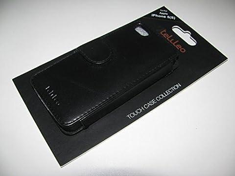 Telileo TEL0394 TC Nappa Tasche für Apple iPhone 5/5S schwarz