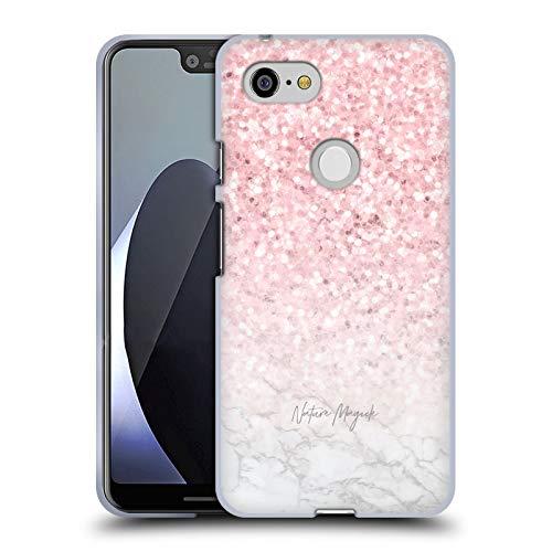 fizielle Nature Magick Pink Funkel Rosa Gold Marmor Glitzer Soft Gel Huelle kompatibel mit Google Pixel 3 XL ()
