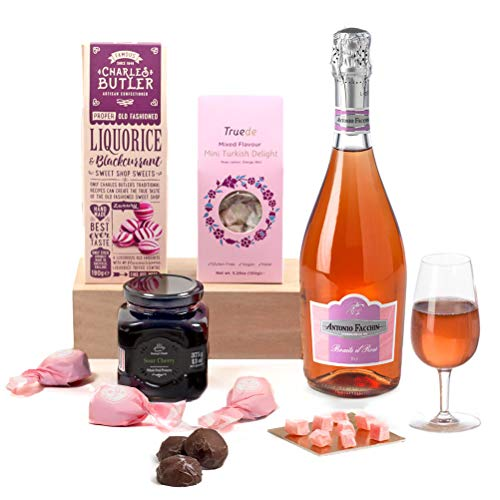 Pretty In Pink - Pink Prosecco, Chocolate and Sweets Hamper Gift