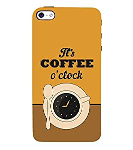 It's Coffee Time 3D Hard Polycarbonate Designer Back Case Cover for Apple iPhone 5