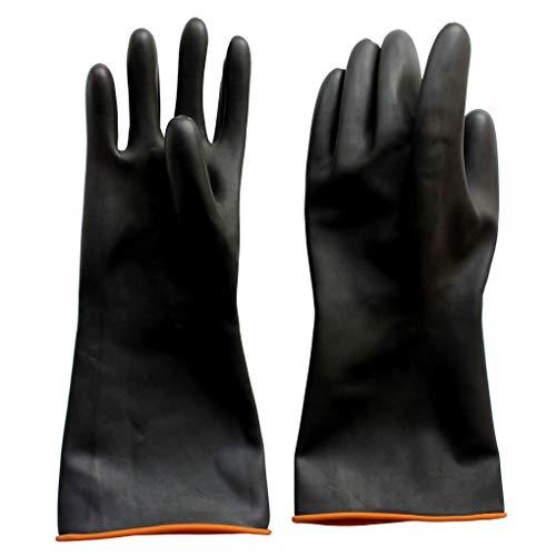 Naturgummilatex Handschuh Anelku Industrie Anti Chemische Säure Alkali Gummihandschuhe 35cm-14inch