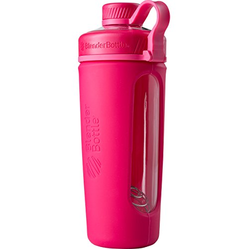 Blender Bottle Radian Water flasche| Protein shaker| Diet shaker| Fitness Shaker | BPA Free | with Blender Ball | Glass |