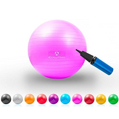 Gymnastik-Ball »Pluto« / Robuster Sitzball und Fitnessball / 55 cm / pink