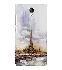 PrintVisa Painting for Eiffel Tower 3D Hard Polycarbonate Designer Back Case Cover for Xiaomi Redmi Note :: Xiaomi Redmi Note 4G