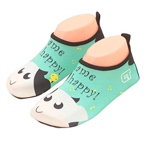 Kinder Strand Schuhe Sportschuhe Wasser Schuhe Soft Schuhe Indoor Schuhe Socken Schuhe Grün / weiß JmDtMwO7tN