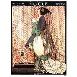 Vintage Vogue (onthewall Vogue Vintage-Covers-Pop Art Poster Druck April 1915(14))