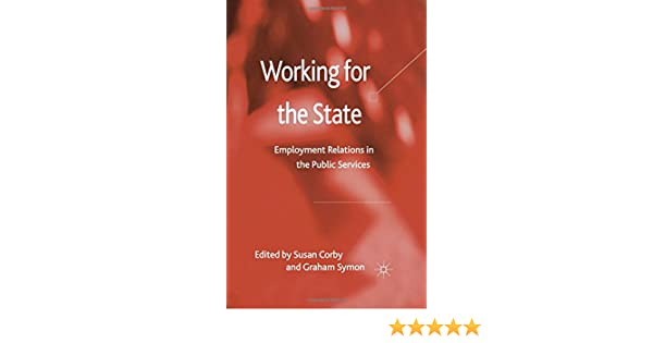 employee relations in the public services corby susan white geoff