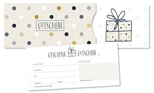 25er Set: Premium Geschenkgutscheine für Kunden, geeignet für Firmen aller Branchen, inkl. hochwertigen Kartenhüllen