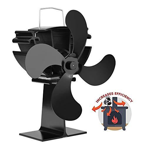 XBDOT Fidersatz-Fans Heat Dynamical Fan Mute Ventilator Flow Fan Coal Wood Pellet Burner Hot Air Circulator Thermal Drive Blower Indoor Ventilating Fan