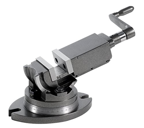WABECO 2-Achsen Maschinenschraubstock 50 mm drehbar schwenkbar Schraubstock