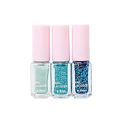 ROPALIA Nagellack 3 Farbe per Satz magisches schönes Farbverlauf Nail Polish Farblack
