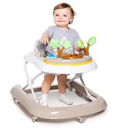 DULPLAY Baby lauflernhilfe,6-18 monate Safety 1st bereit Set, Zu fuß! Musik und licht Baby walker Folding Höhe verstellbar -D 25x24inch