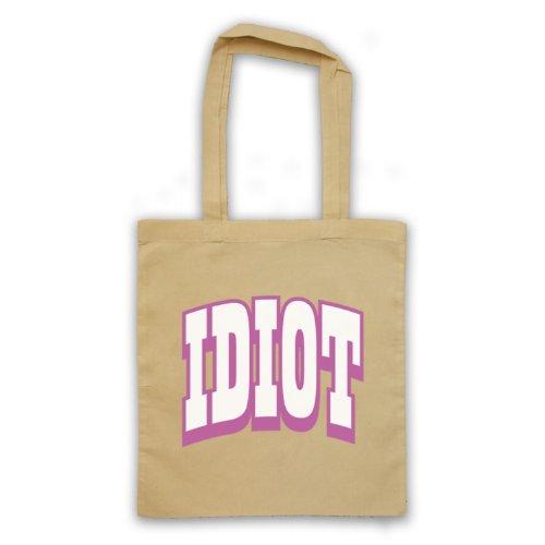 Idiot Slogan divertente borsa Natural