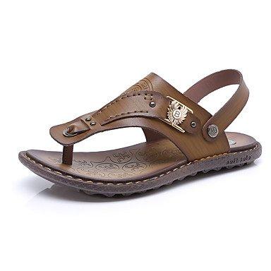 Slippers & amp da uomo;Anello da piede similpelle Primavera Estate Casual Khaki marrone chiaro piano blu Sa sandali US10 / EU43 / UK9 / CN44