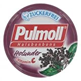Pulmoll Holunder Halsbonbons zuckerfrei, 50 g