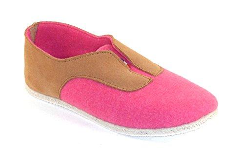 Manufaktur degorce–Pantoffel für bandiat- Unisex Damen und Herren Pink - Rosa