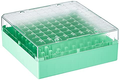 Neolab 78042Kryo Plastic Storage Boxes PS 100Carports, Green (Pack of