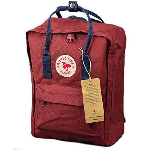 Mode lässig Studententasche Umhängetasche Canvas Rucksack Schulter rot blau 20L