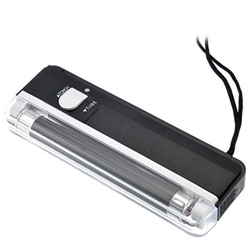 ROSENICE 2-in-1 Tragbarer Handheld UV Licht Währung Geld-Detektor mit Flashlight -