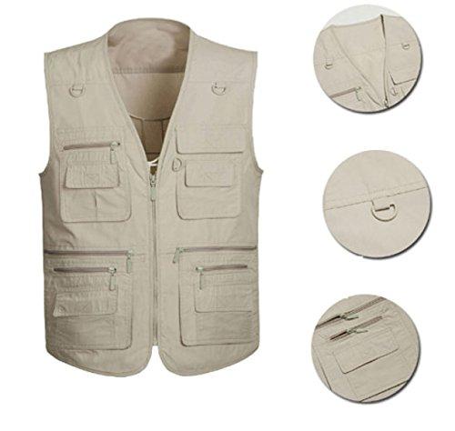 GLF Summer Sport All'aperto Maschile Vest Vest Multi-pocket Gilet Clip Di Cavallo Maschio Viaggi Pesca Fotografia 5