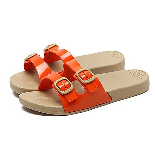 Piattaforma Infradito In Estate/Antiscivolo Scarpe Da Spiaggia/Fondo Piatto Che Indossano Sandali E Pantofole F