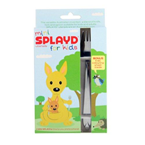 Splayd Mini-Göffel für Kinder, 2er-Set - Gabel Glanz