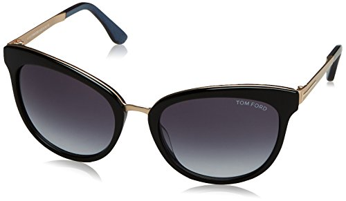 Tom ford ft0461 05w 56, montature donna, (nero/altro\\blu grad), 56.0