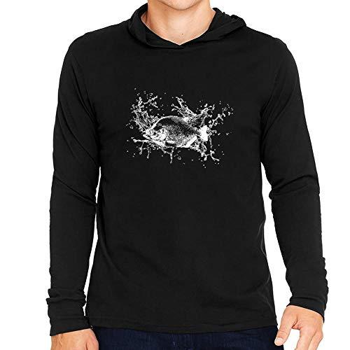 Idakoos Piranha Sketch Kapuze Langarm T-Shirt M -