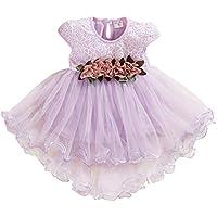 ZHMEI Vestidos Fiesta niñas | Bebé Niño Niños Niñas Flores Floral Tul Fruncido Princesa Vestidos Ropa 0-24 Meses