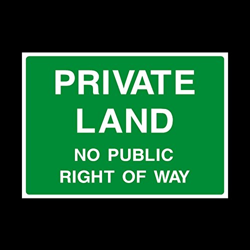 private-land-no-public-right-of-way-plastic-sign-staff-only-authorised-keep-out-beyond-this-point-ca