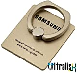 Ultralisk Ring Stand Holder/Mobile Phone Ring Stent/Guard Against Theft Clasp/360 Degree Rotating Metal Ring Holder For Samsung Mobiles - Gold